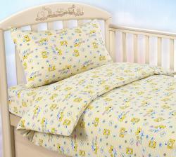"""Купить детское постельное белье из трикотажа """"Мой друг (желтый)"""""""
